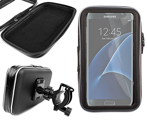 DURAGADGET - Soporte y Funda para Bicicleta para Smartphone Samsung Galaxy S7 (5,1 Pulgadas) y Samsung Galaxy S7 Edge (5,5 Pulgadas)