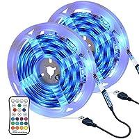 OMERIL LEDテープライト 6M長さ USB給電 リモコン操作 16色 4モード IP67防水 SMD5050 粘着テープ仕様 6メートル(2x3M)