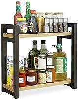 YSDHE キッチンストレージシェルフの台所食器棚や食品缶食器などを格納するための調理台自立キッチンシェルフ (Color : 1)