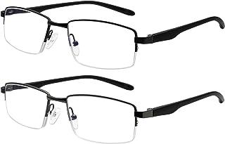 2 Pack Computer Reading Glasses Men Women Metal Frames...