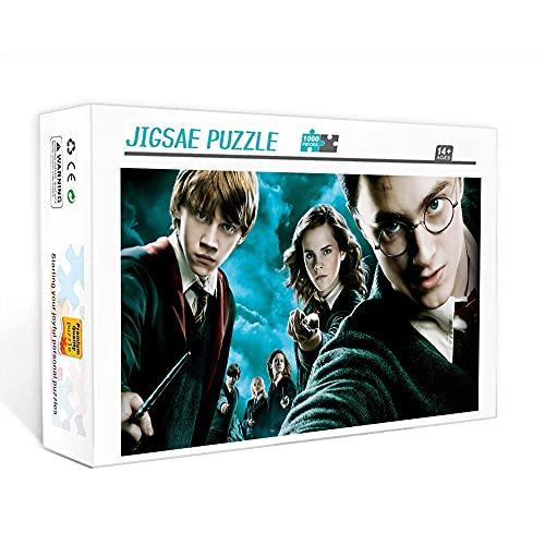 Mini rompecabezas para adultos de 1000 piezas, póster de Harry Potter, acertijos, juego de rompecabezas, regalo, rompecabezas de 1000 piezas para adultos y niños, 70x50cm