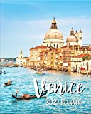 Venice 2021 Planner: Weekly & Monthly Agenda | 8 x 10 Size January 2021 - December 2021 | Gondola On Canal Venezia Italia Cover Design, Organizer And Calendar, Pretty and Simple