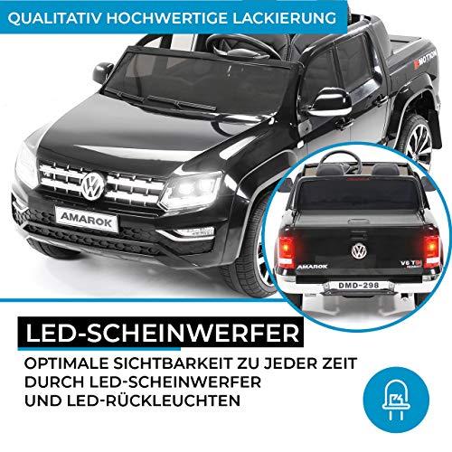 RC Auto kaufen Kinderauto Bild 3: Actionbikes Motors Kinder Elektroauto Volkswagen Amarok SUV Kinderauto Elektrofahrzeug Elektro VW 2 Personen Eva Reifen 2x35 Watt Motor (Schwarz)*
