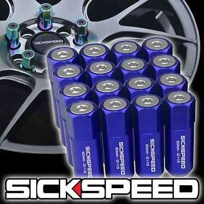 16 Blue Polished Capped Long-awaited Excellence Aluminum 60Mm Tuner Lug Extended Nuts Wh