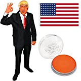 ILOVEFANCYDRESS Donald Trump KOSTÜM VERKLEIDUNG=BEINHALTET-AMERIKANISCHE Fahne+Oranges Make UP+EINE Blonde PERÜCKE+ROTEN Krawatte+Anzug=USA Fasching UND Karneval = Anzug IN MEDIUM