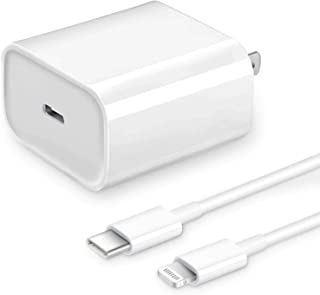 [Apple MFi Certified] iPhone Fast Charger, Veetone 20W PD Type C Power Wall Charger Travel Plug with 6FT USB C to Lightning Quick Charge Sync Cable Compatible with iPhone 12/11/XS/XR/X 8/SE 2020, iPad