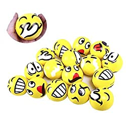 professional LovesTown Emoji Stress Ball x24 Emoji Face Squeeze Ball for Wrist and Finger Exercise…
