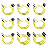 Amazon Basics Adjustable 36-Inch Bungee Cords, Yellow, 2-Pack (20-Piece)