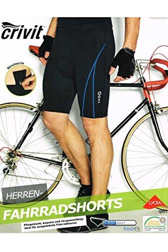 Crivit® Herren Fahrradshorts Fahrradhose - Coolmax®freshFX® /Lycra®Sport (L)
