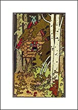 Ivan Bilibin 14x20 Art Print - Illustration for The Front Cover of The Book in The Series Tales