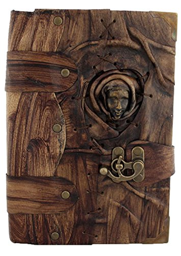 Handgefertigtes Tagebuch aus echtem Schafsleder, Notizblock, Skizzenbuch, Skizzenbuch, Buchhülle, Vintage, Papier, einfarbig, für Damen, Herren, Kinder, Büro, Geschenk –...