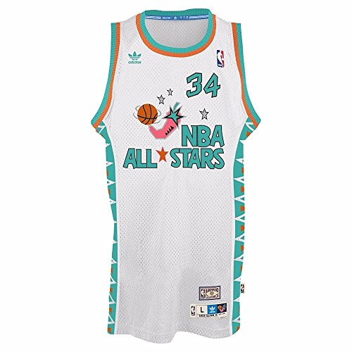 Hakeem Olajuwon Adidas NBA Throwback 1996 All-Star West Swingman Jersey - White