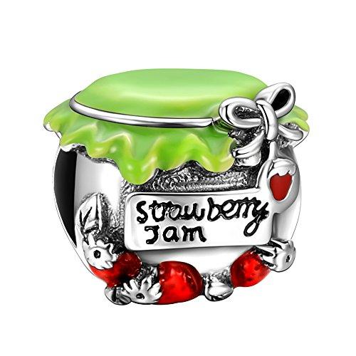 SOUFEEL シルバー 925 ブレスレット チャーム レッド いちご 苺 ジャム レディース人気 かわいい charm プレゼント おしゃれ 女性用 友達 レディース 母 誕生日 記念日