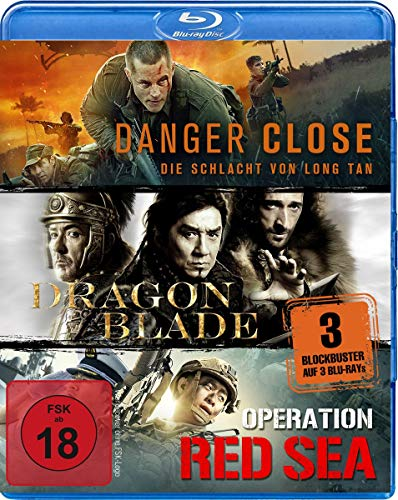 Kriegsfilm-Box: Danger Close, Dragon Blade & Operation Red Sea [Blu-ray]
