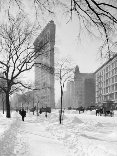 Posterlounge Acrylglasbild 30 x 40 cm: Flatiron-Gebäude, New York City, 1905 von Glasshouse/Mauritius Images - Wandbild, Acryl Glasbild, Druck auf Acryl Glas Bild