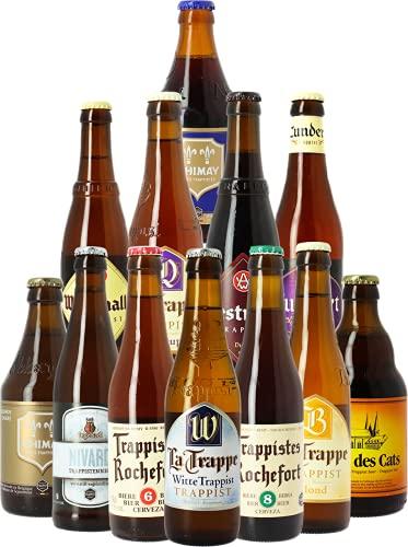 Assortiment 12 bières les meilleures trappistes - Idée cadeau