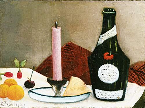 La bougie rose de Henri Julien Rousseau. 100% peinte à la main. Reproduction de haute qualité. Livraison gratuite (non encadrée et non étirée). Taille de la peinture: 111,8 x 33 cm.
