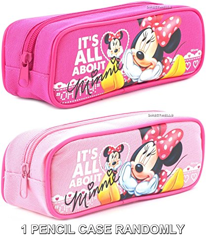 Disney Minnie Mouse ' It's All About Minnie ' Pink or Hot Pink Pencil Case Randomly (1 PENCIL CASE)