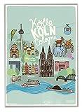 Poster Kinderzimmer Kölnposter Kölner Stadtposter DIN A2