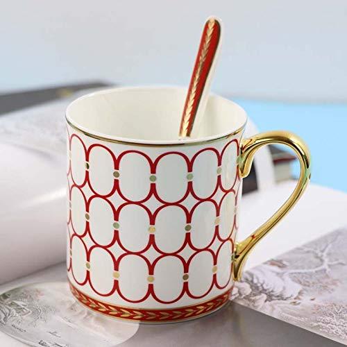 DONG 2019 New Trend Keramik handbemalt Retro Kreative Kaffeetasse Kaffee Bar Relief Persönlichkeit Frühstück Milk Tasse, g, 401-500ml
