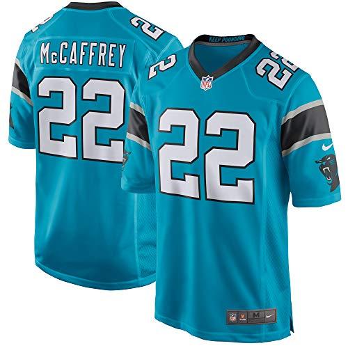 Nike Youth Carolina Panthers Christian McCaffrey Blue Game Jersey (Yth Large (14-16)