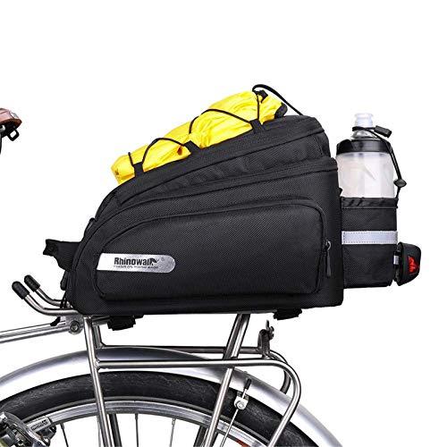 SHINYEVER Bolso para Asiento Trasero de la Bicicleta Alforja para Ciclismo, Carretera, MTB, Bicicleta de Montaña 12L Negro