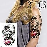 3pcs Indio Salvaje engomada del Tatuaje del Color del Tatuaje Robot mecánico Facial