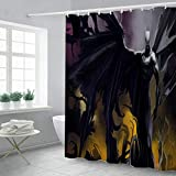 ASSDG Duschvorhang Homehold Hotel Badezimmer Zubehör Classic Cartoon 3D Digitaldruck Batman Wasserdicht Rostfrei Encozy Dekorative 180 x 200 cm