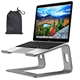 """LUME Laptop Stand, Aluminium Portable Ventilated Laptop Riser, Notebook Stand with Carry Bag, Compatible for 10-15.6"""" MacBook Pro/Air, HP, Dell, Lenovo, Samsung, Acer, Huawei Matebook (Graphite Grey)"""