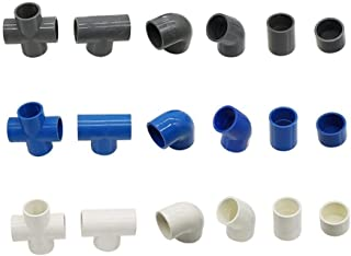 Pipe Fittings 32mm Inner Diameter PVC Connector Water Supply Pipe Fittings Straight Elbow Solid Equal Tee Four-way Connect...