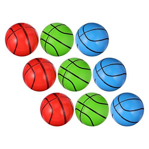 TOYANDONA 20 Stück Flummis Mini Basketball Gummi Hüpfball Bunte Hohe Hüpfbälle Trick or Treat Taschen Füllstoff für Kinder Studenten Kinder (zufällige Farbe)