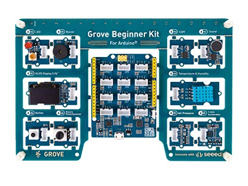 Grove Beginner Kit for Arduino Arduino Starter Kit All-in-one Arduino UNO Compatible Board with 10 Sensors and 12 Projects