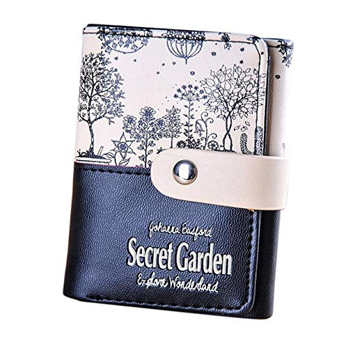 QFERW Luggage Monedero de jardín Secreto para Mujer Titular de Tarjeta de...