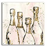 """Epic Art 'Champagne is Grand I' by Chris Paschke, 36""""x36"""""""