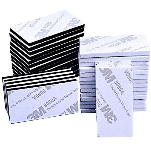 EVA発泡体 50個入れ 3M両面強力粘着マウントテープ 長方形(ホワイト、ブラック)DIY工芸品、写真、カード、ウォールフック、家具、その他多くの屋内外のアイテムを貼り付けるのに最適です