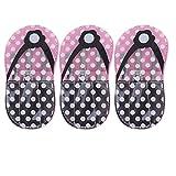 Hemoton Set de 3 juegos de manicura rosa pedicura para uñas de los pies, cortaúñas de cutículas, kit de cortaúñas en forma de flop, bolsa de almacenamiento para uñas de los pies (4 piezas en 1 juego)