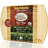 Bamboo Wood Cutting Board - Organic Chopping Board - Cutting...
