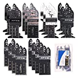 SPTA 20Pcs Oscillating Saw Blades, Professional Wood/Metal/Plastic Universal Multitool, Quick Release Saw Blades
