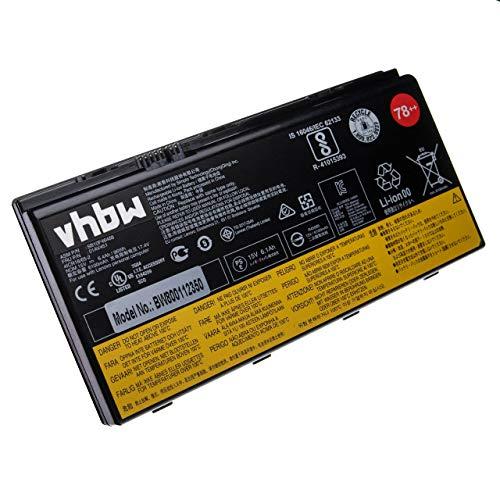 vhbw Li-Ion Akku 6400mAh (14.8V) für Notebook Laptop Lenovo Thinkpad P70, P70 Mobile Workstation, P70 Mobile Xeon Workstation wie 00HW030.
