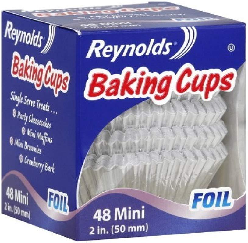 Reynolds Baking Cups Foil Mini 2 Inch 48 Ct 6 Packs