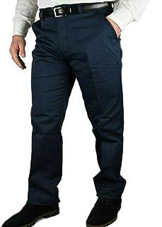 Pantaloni Uomo Classici Eleganti a Vita Alta Gamba Larga 46 48 50 52 54 56 58 60 62 64