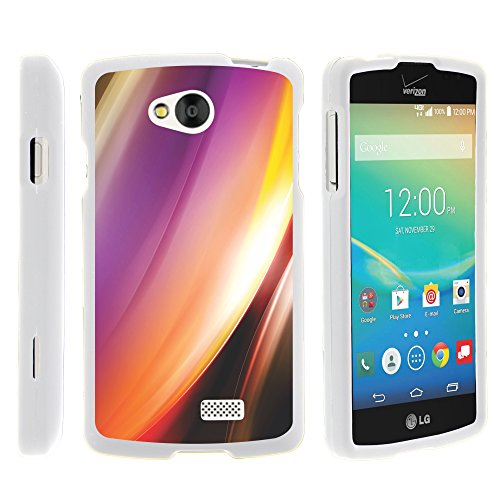 LG Transpyre Phone Case, Hard Snap On Protective Cover with Creative Graphic Image for LG Transpyre VS810PP, LG Tribute LS660, LG Optimus F60 (Verizon, Virgin Mobile, MetroPCS) from MINITURTLE | Includes Clear Screen Protector and Stylus Pen - Aurora Northern Lights