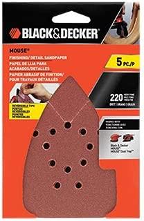 BLACK+DECKER BDAM220 220G Mouse Sandpaper, 5-Pack