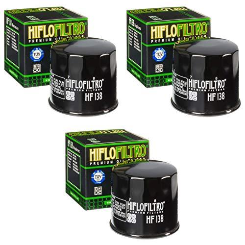 Hiflo 3x Ölfilter SV 650 S 1999-2015 HF138