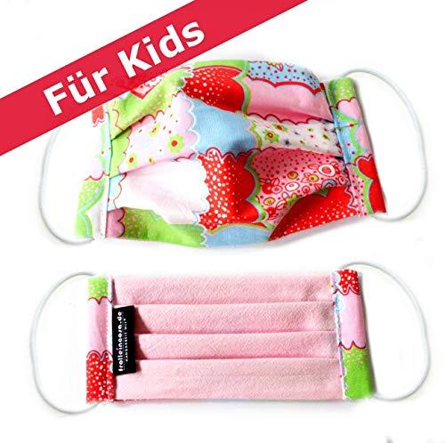 Mund-Nasen-Maske für die Kleinen, 100% Baumwolle, colour, waschbar bei 60 °
