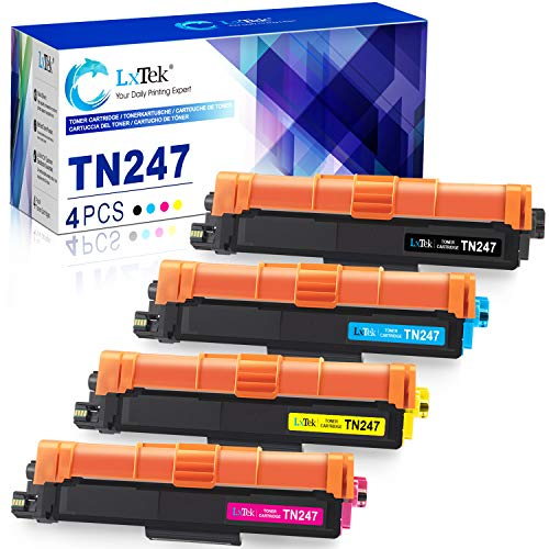 4 LxTek Compatible para TN247 TN-247 TN243 TN-243 Cartuchos de tóner para Brother HL-L3230CDW HL-L3210CW MFC-L3710CW MFC-L3750CDW MFC-L3770CDW MFC-L3730CDN DCP-L3510CDW DCP-L3550CDW HL-L3270CDW