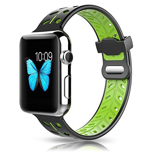 Pinhen per Apple Watch Series 4Band–40mm/44MM Sport Silicone Wristband Sostituzione del Cinturino per Orologio Apple Series 4/3/2/1