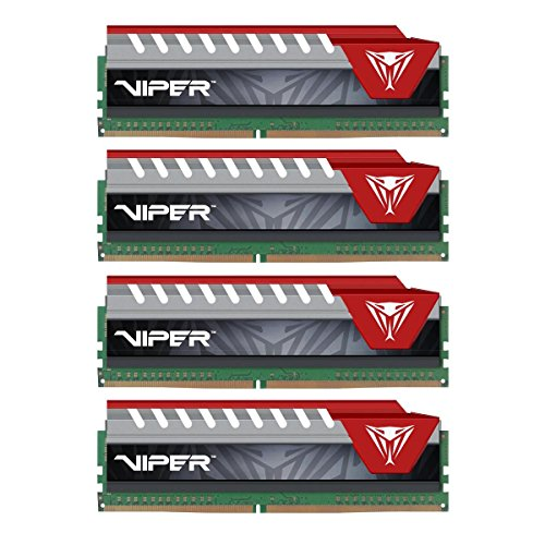 Patriot Extreme Performance 64GB PC4-22400 (2800MHZ) Viper Elite Series Kit, Red...