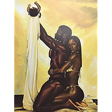 Unframed Divine Order 12x16 inches WAK - African American Black Art Print Wall Decor Poster