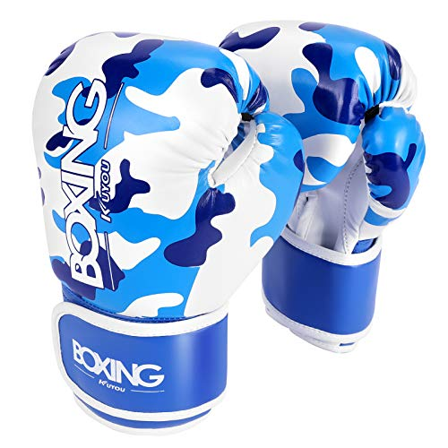 Kids Boxing Gloves, Boxing Gloves for Children 5-12 Youth Boys Girls Toddler PU Cartoon Sparring Training Boxing Gloves for Punching Bag, Kickboxing, Muay Thai, MMA